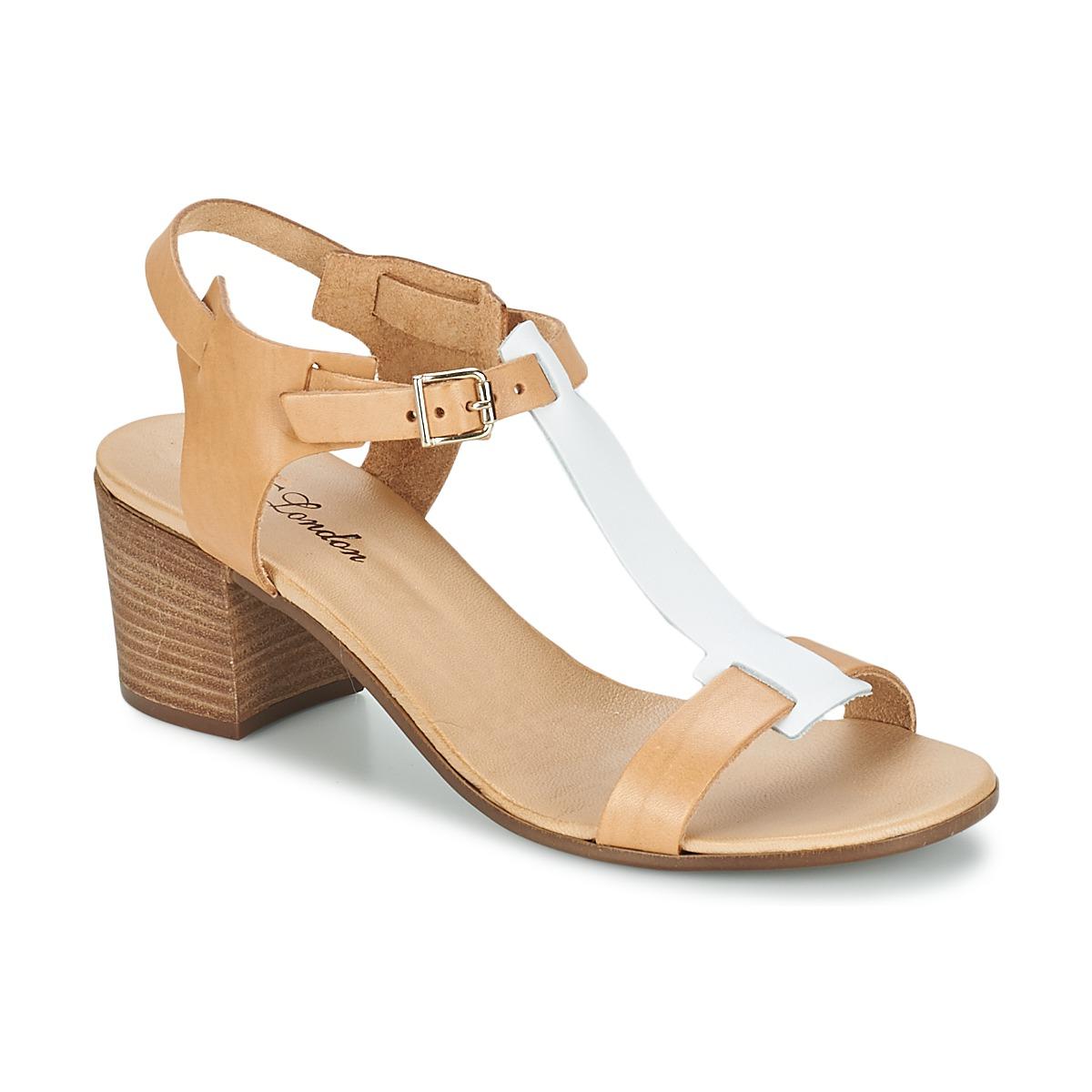 Sandals BT London GANTOMI CAMEL / White