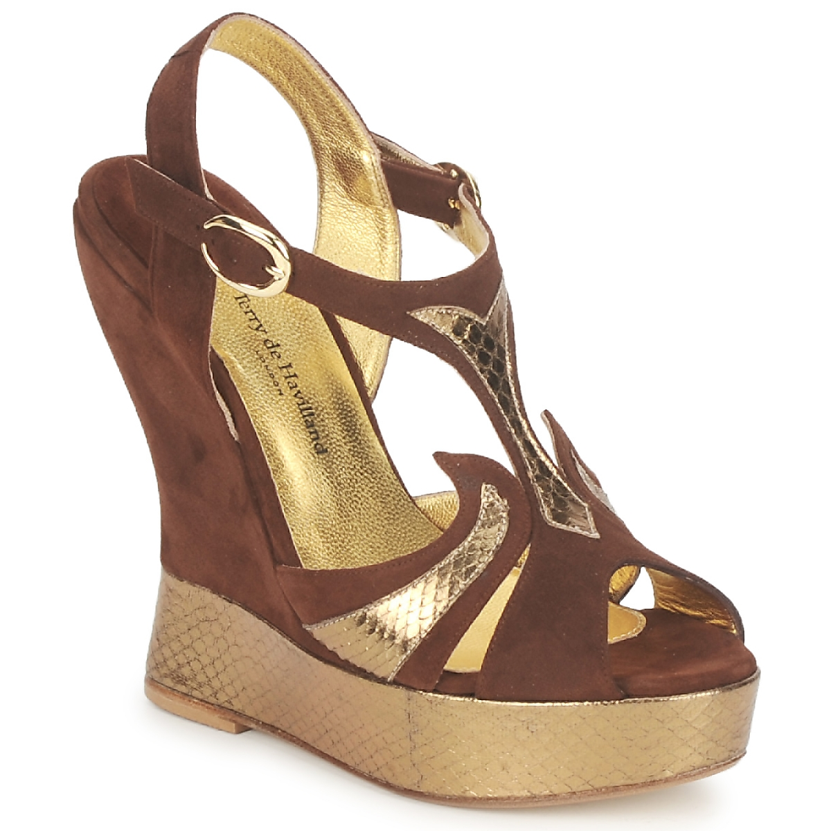 Sandals Terry de Havilland FARAH CHOCOLATE