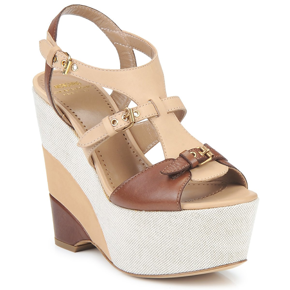 Sandals Moschino Cheap & CHIC STERLIZIA BEIGE-BROWN