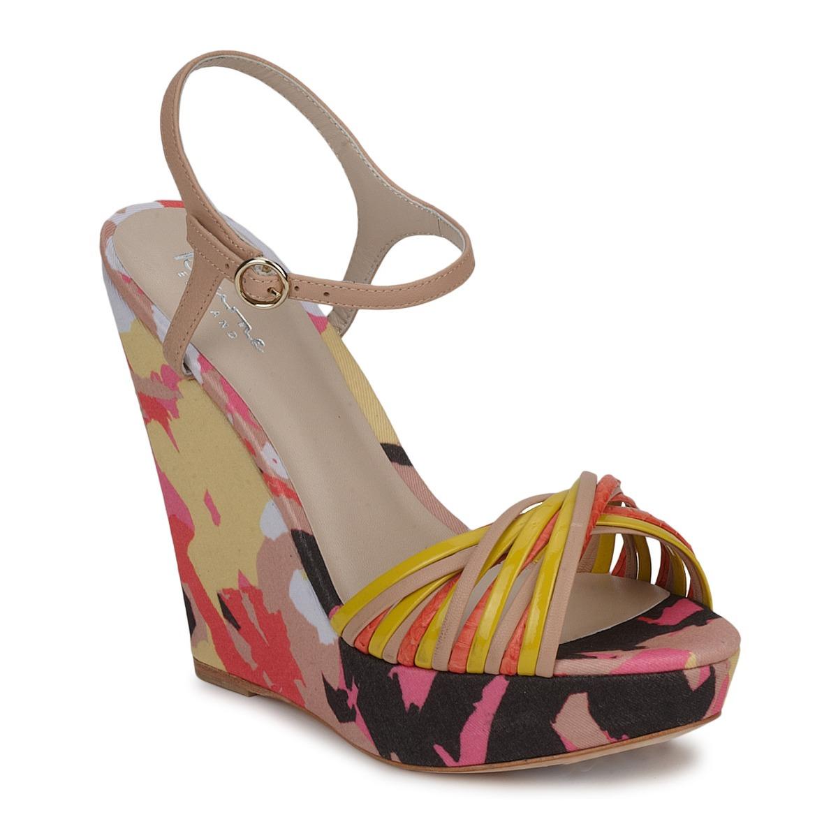 Sandals Bourne KARMEL BEIGE / Multicoloured