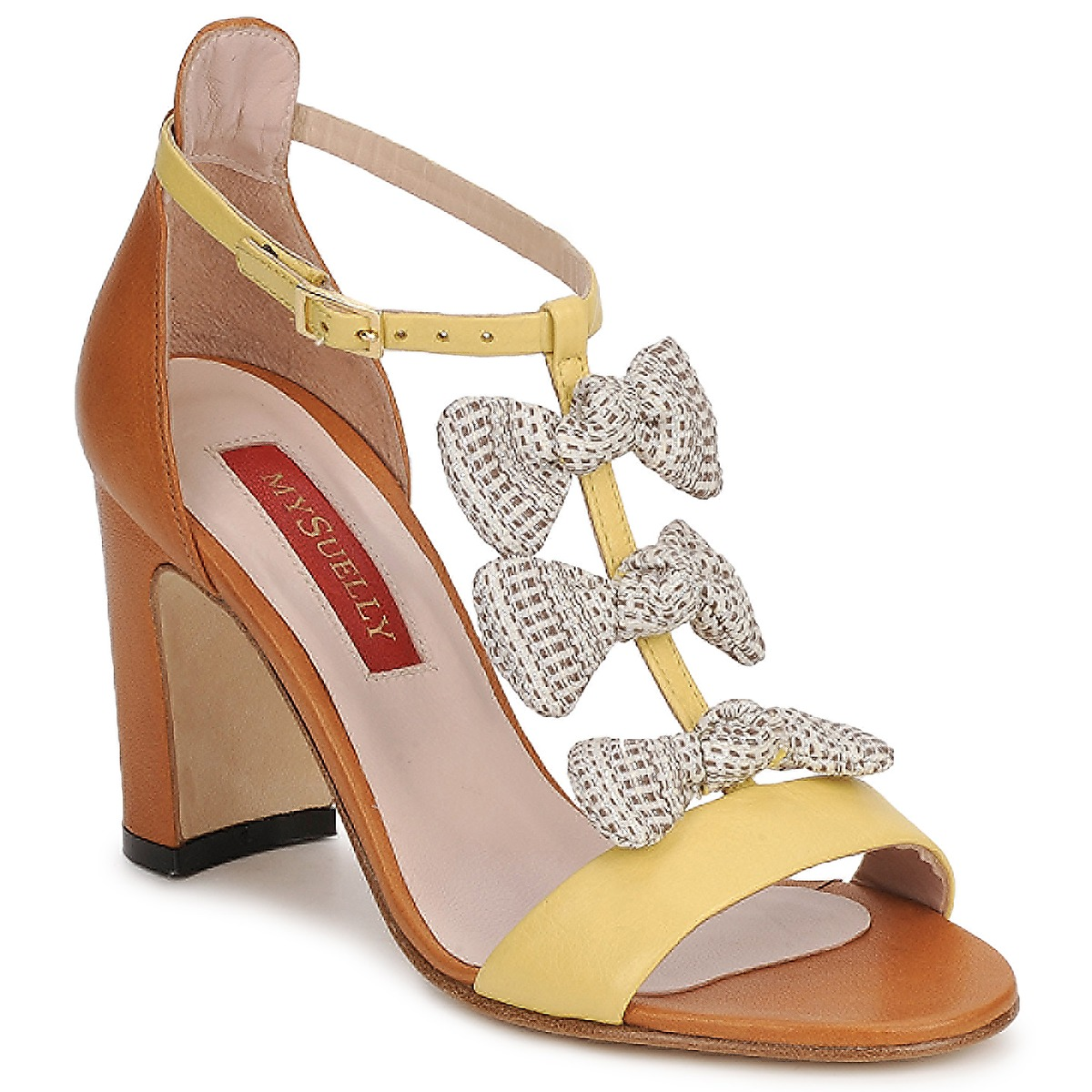 Sandals MySuelly NOE Yellow / Brown