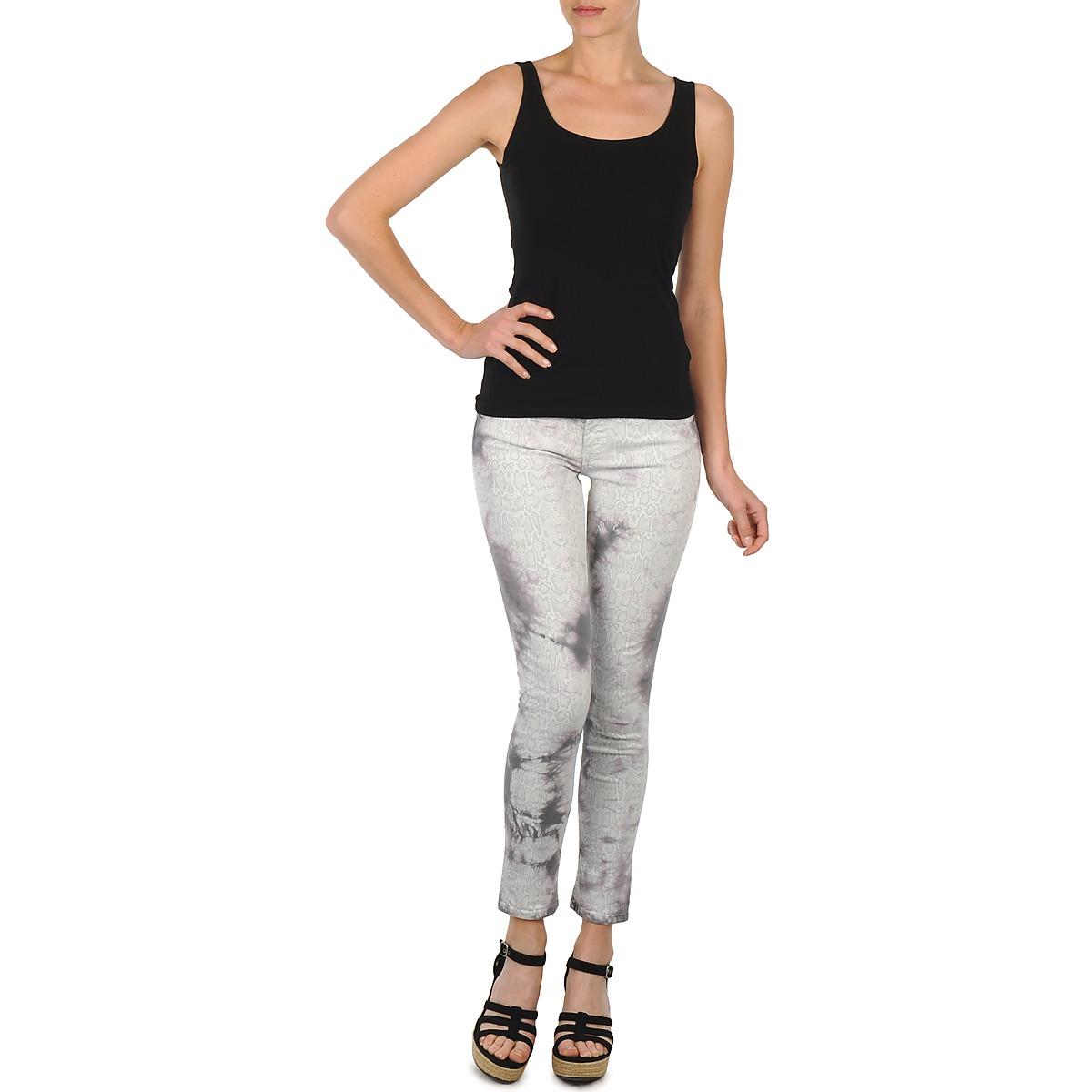 cropped trousers Cimarron CLARA TIE DYE PYTHON Grey