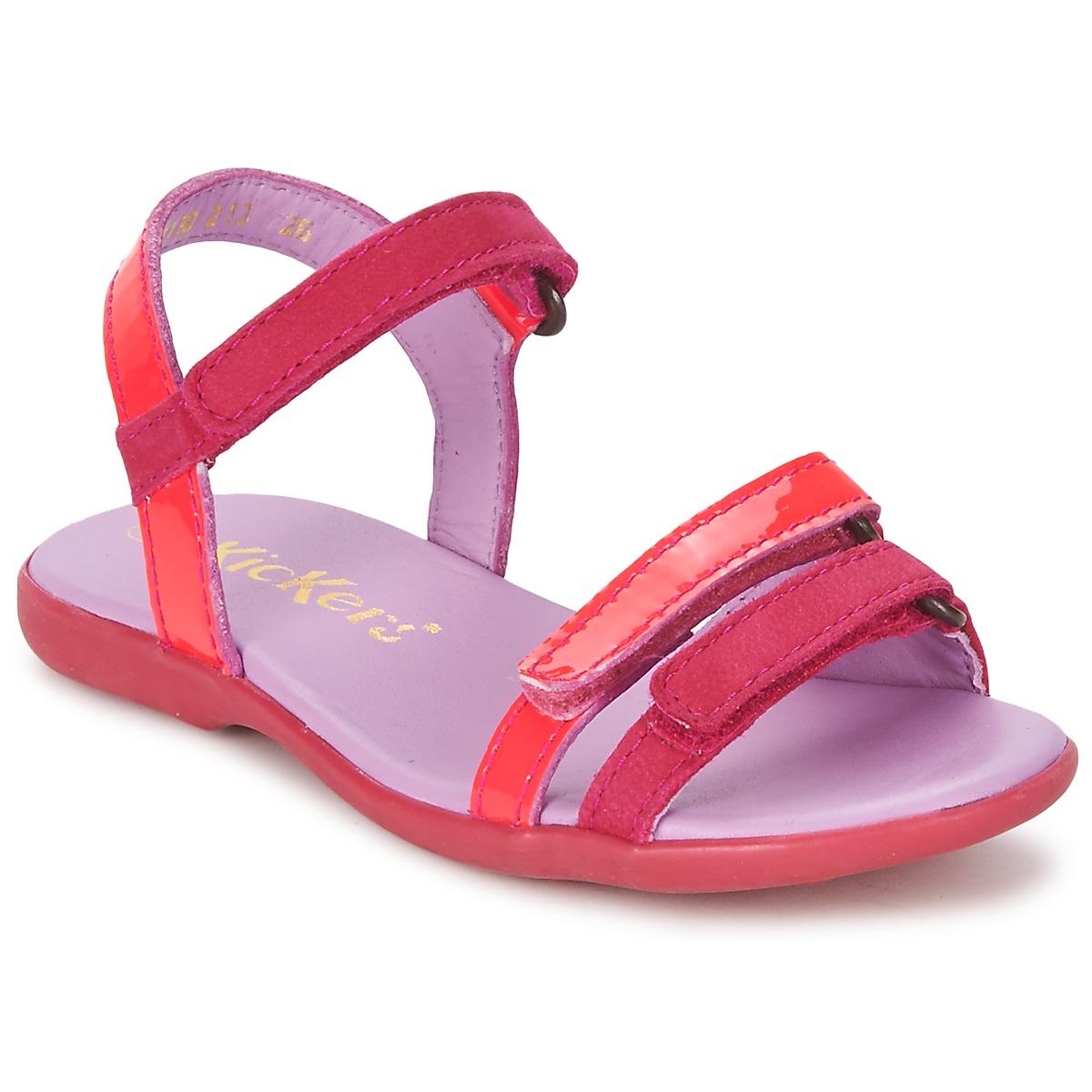 Sandals Kickers ARCENCIEL Fuschia / Pink / Fluorescent