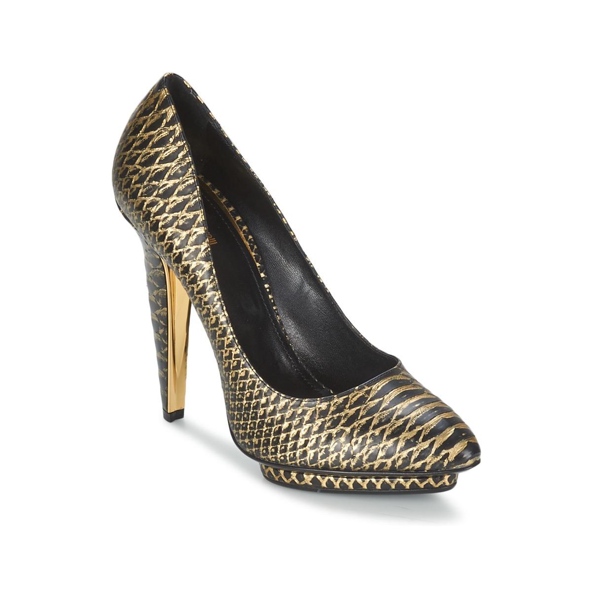 Court-shoes Roberto Cavalli YDS622-UC168-D0007 Black / GOLD