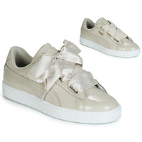 Shoes Women Low top trainers Puma WN BASKET HEART PATENT.GRA Beige