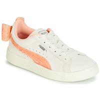 Shoes Girl Low top trainers Puma PS SUEDE BOW JELLY AC.WHIS Beige