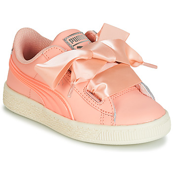 Shoes Girl Low top trainers Puma PS BASKET HEART JELLY.PEAC Pink