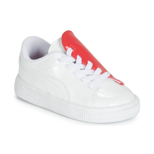Shoes Girl Low top trainers Puma INF B CRUSH PATENT AC.W-H White