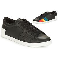 Shoes Women Low top trainers Le Coq Sportif FLAG Black / Multicolour