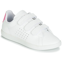 Shoes Girl Low top trainers Le Coq Sportif COURTSET PS White / Pink