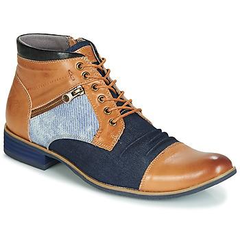 Shoes Men Mid boots Kdopa ALMERIA Camel / Blue