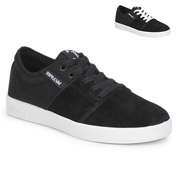 Shoes Low top trainers Supra STACKS II Black / White
