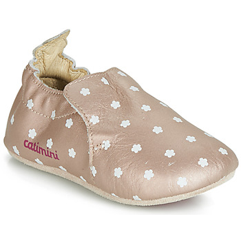 Shoes Girl Slippers Catimini CARA Pink / Gold