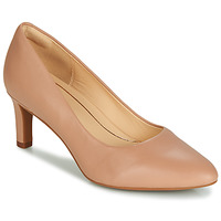 Shoes Women Court shoes Clarks Calla Rose Nude / Leather