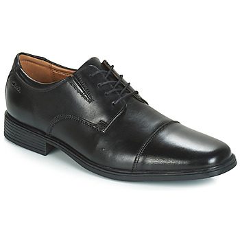 Shoes Men Derby shoes Clarks Tilden Cap  black / Leather