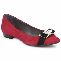 Shoes Women Ballerinas Alberto Gozzi CAMOSCIO RUBINO Red