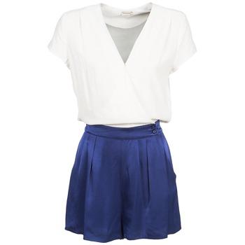 material Women Jumpsuits / Dungarees Naf Naf KLOVIS White / Blue