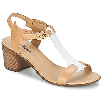Sandals BT London GANTOMI CAMEL / White 350x350