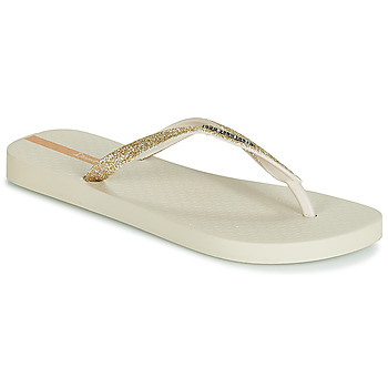 Shoes Women Flip flops Ipanema LOLITA III Beige / Gold