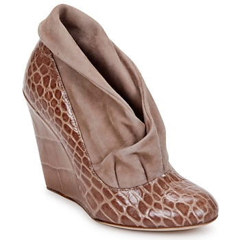 Shoes Women Low boots Jerome C. Rousseau SAVOYE CROC TAUPE