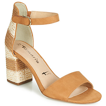 Shoes Women Sandals Tamaris HEITI Brown / Beige