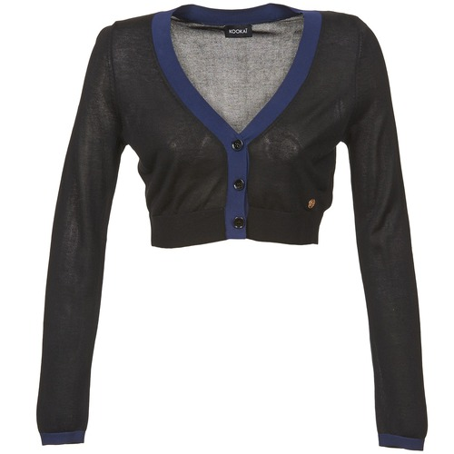 material Women Jackets / Cardigans Kookaï BALOUE Black