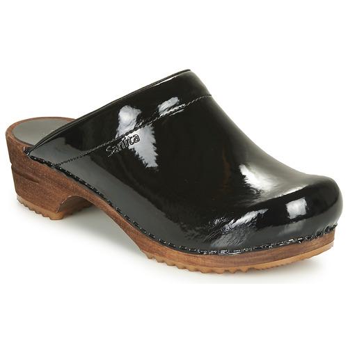 Shoes Women Clogs Sanita CLASSIC PATENT Black