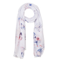 Accessorie Women Scarves André BUTTERFLY White