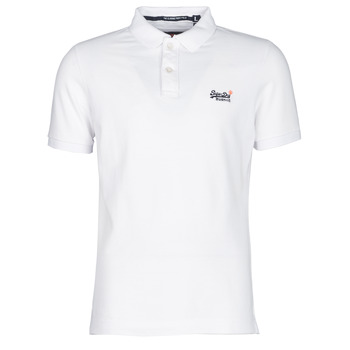 material Men short-sleeved polo shirts Superdry CLASSIC PIQUE S/S POLO White