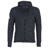 material Men sweaters Superdry STORM INTERNATIONAL ZIPHOOD Black