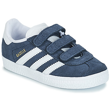 Shoes Children Low top trainers adidas Originals GAZELLE CF I Marine / White