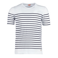 material Men short-sleeved t-shirts Armor Lux YAYALOUT White / Marine