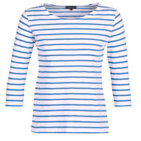 material Women Long sleeved shirts Armor Lux YAYAROULE White / Blue