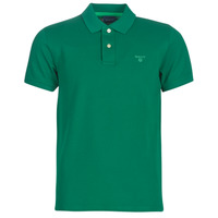 material Men short-sleeved polo shirts Gant CONTRAST COLLAR PIQUE Green
