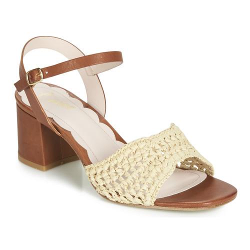 Shoes Women Sandals Miss L'Fire MIRO Brown