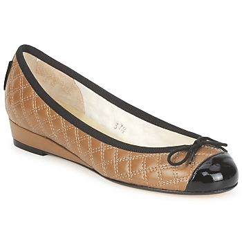 Shoes Women Ballerinas French Sole HENRIETTA Taupe