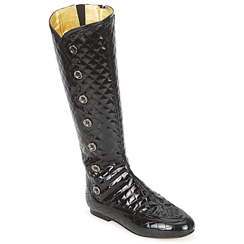 Shoes Women Boots French Sole PUMPKIN Black