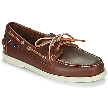Shoes Men Boat shoes Sebago DOCKSIDES PORTLAND WAXED Brown