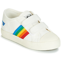 Shoes Children Low top trainers Gola COASTER RAINBOW VELCRO White