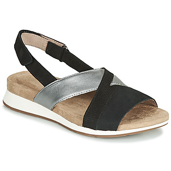 Shoes Women Sandals Hush puppies PADDY Black / Silver