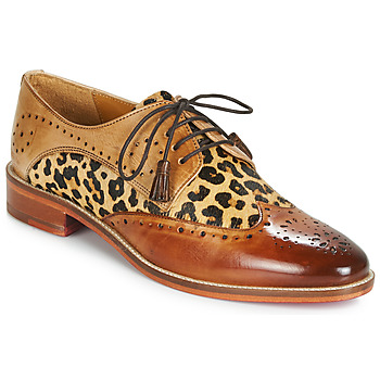 Shoes Women Derby shoes Melvin & Hamilton BETTY-4 Brown / Leopard