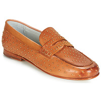 Shoes Women Loafers Melvin & Hamilton CAROLINE 4 Camel / Gold
