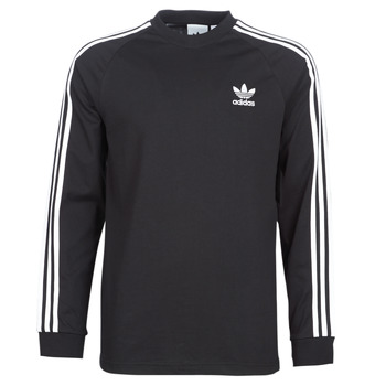 material Men Long sleeved shirts adidas Originals 3 STRIPES LS T Black