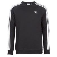 material Men sweaters adidas Originals 3 STRIPES CREW Black