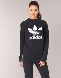 material Women sweaters adidas Originals TRF CREW SWEAT Black
