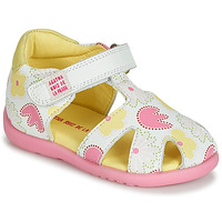 Shoes Girl Sandals Agatha Ruiz de la Prada HAPPY White / Pink