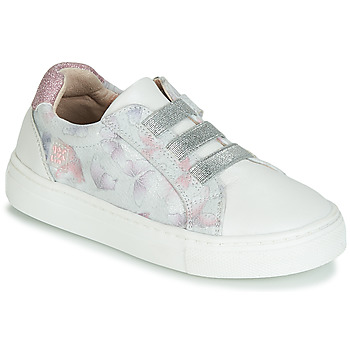 Shoes Girl Low top trainers Garvalin STAR White / Silver / Pink