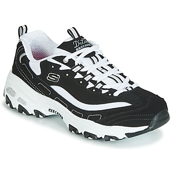 Shoes Women Low top trainers Skechers D'LITES Black / White
