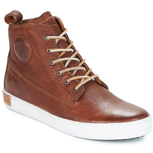 Shoes Men High top trainers Blackstone INCH WORKER Brown