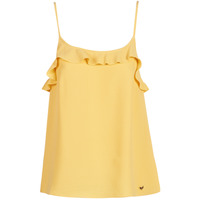 material Women Tops / Sleeveless T-shirts Les Petites Bombes AZITAFE Yellow